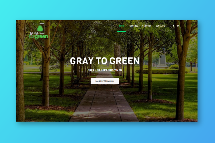 Gray-to-green